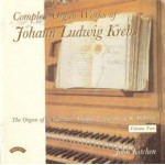 Complete Organ Works of Johann Krebs - Vol 2 - The Organ of St.Salvator's Chapel, University of St.Andrews